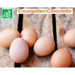 Les 6 oeufs Bio - Courgette...